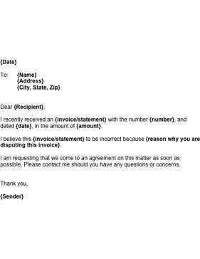 Sample dispute letter for EZ Pass violation